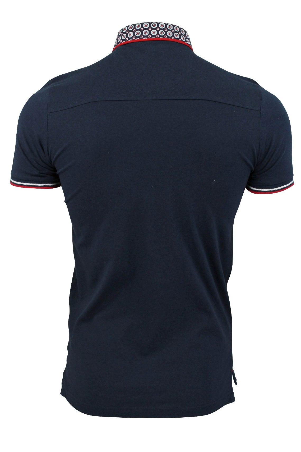 Mens-Polo-T-Shirt-Chimera-Brave-Soul-Denim-Chambray-Collar-Short-Sleeved-Cotton thumbnail 43