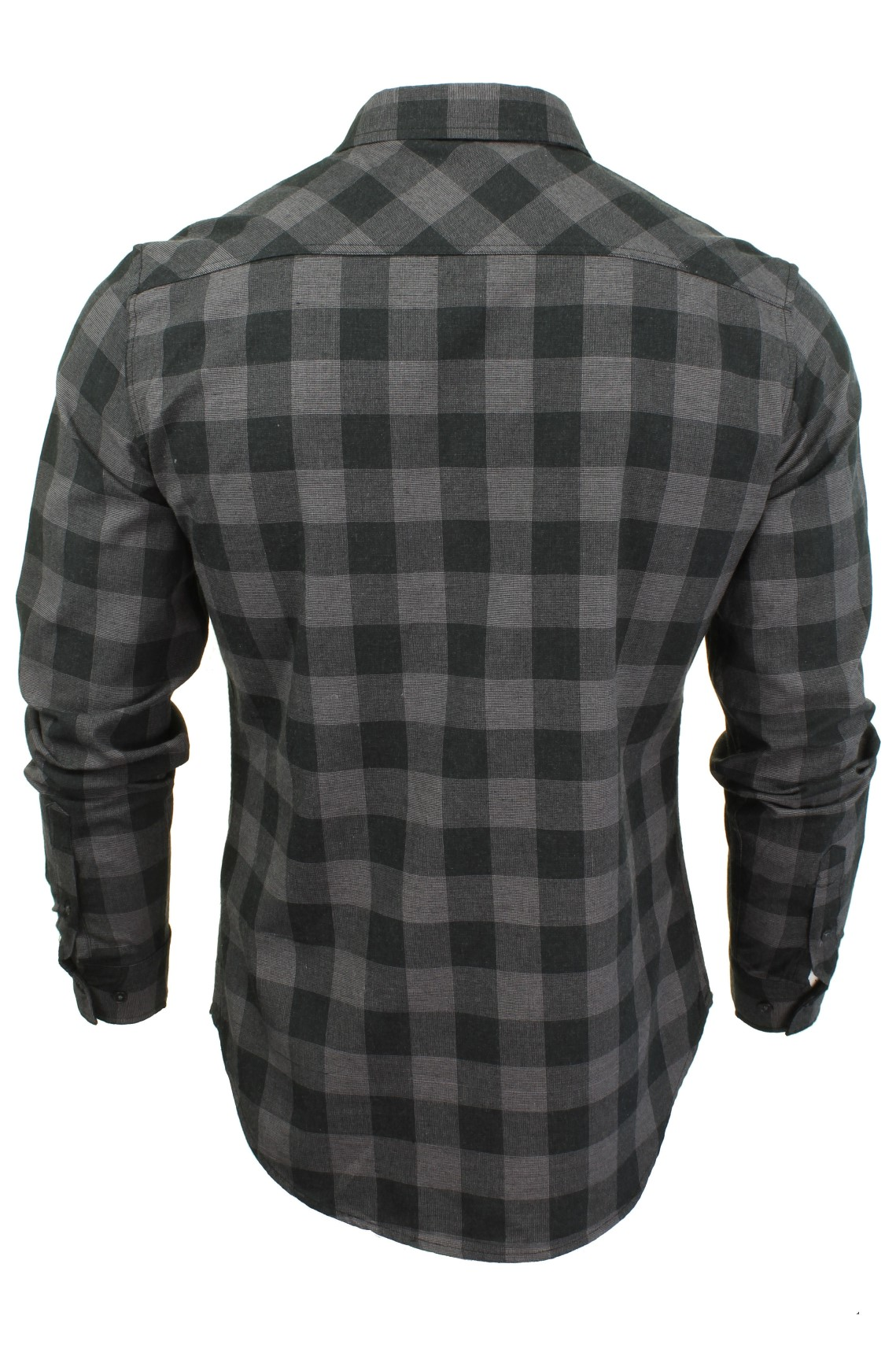 Mens-Check-Cotton-Shirt-by-Crosshatch-039-Obtusa-039 thumbnail 5