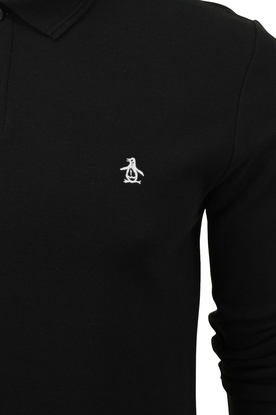 Mens-Polo-T-Shirt-by-Original-Penguin-039-Winston-039-Long-Sleeved thumbnail 10
