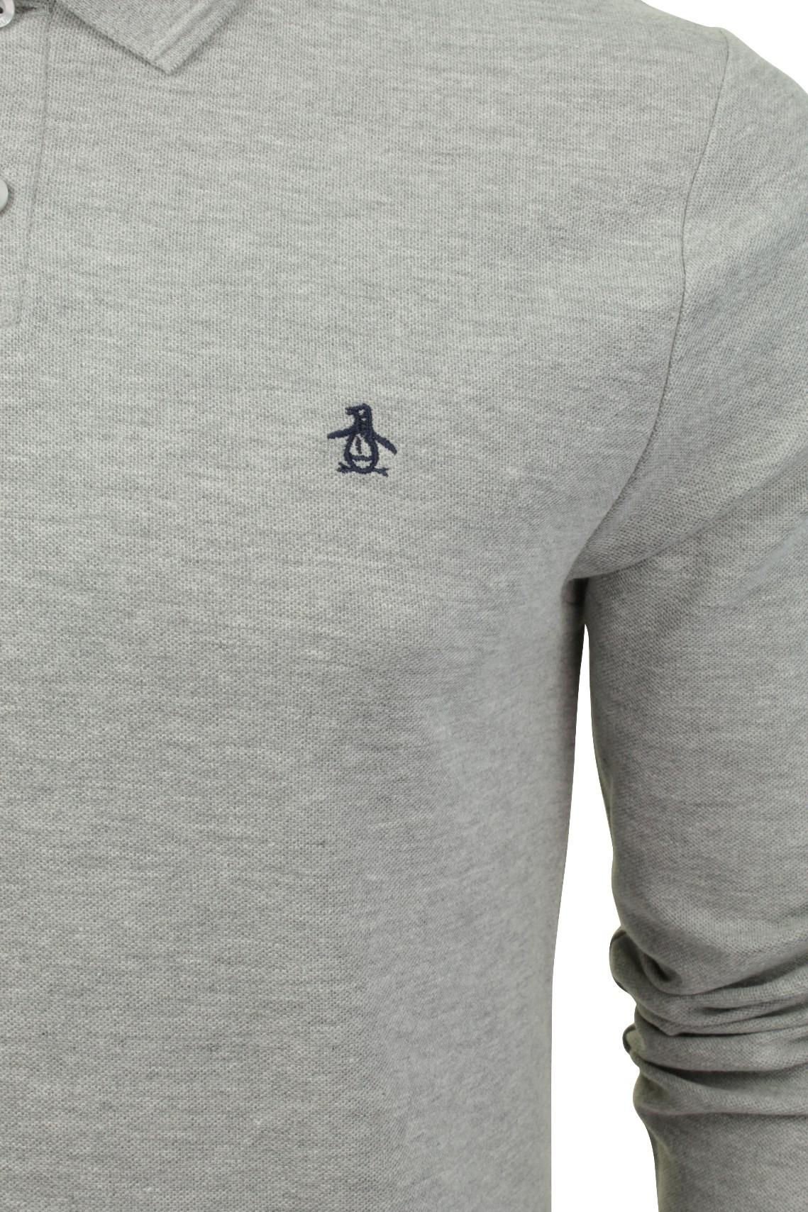 Mens-Polo-T-Shirt-by-Original-Penguin-039-Winston-039-Long-Sleeved thumbnail 7