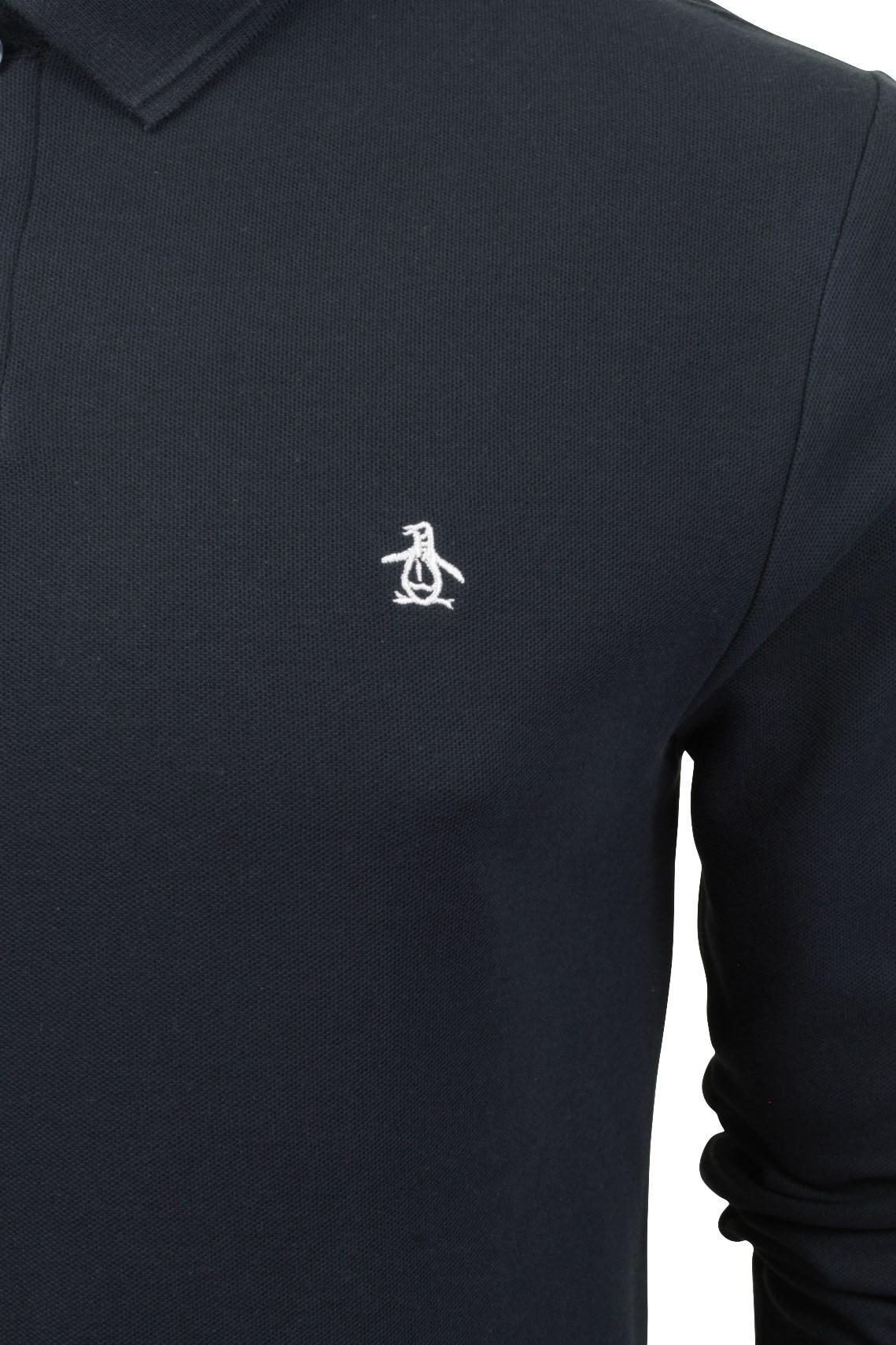 Mens-Polo-T-Shirt-by-Original-Penguin-039-Winston-039-Long-Sleeved thumbnail 4