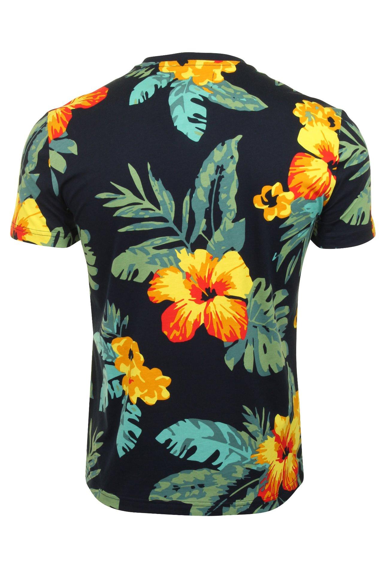 Original-Penguin-Mens-t-shirt-039-exploto-floral-de-manga-corta-039 miniatura 4