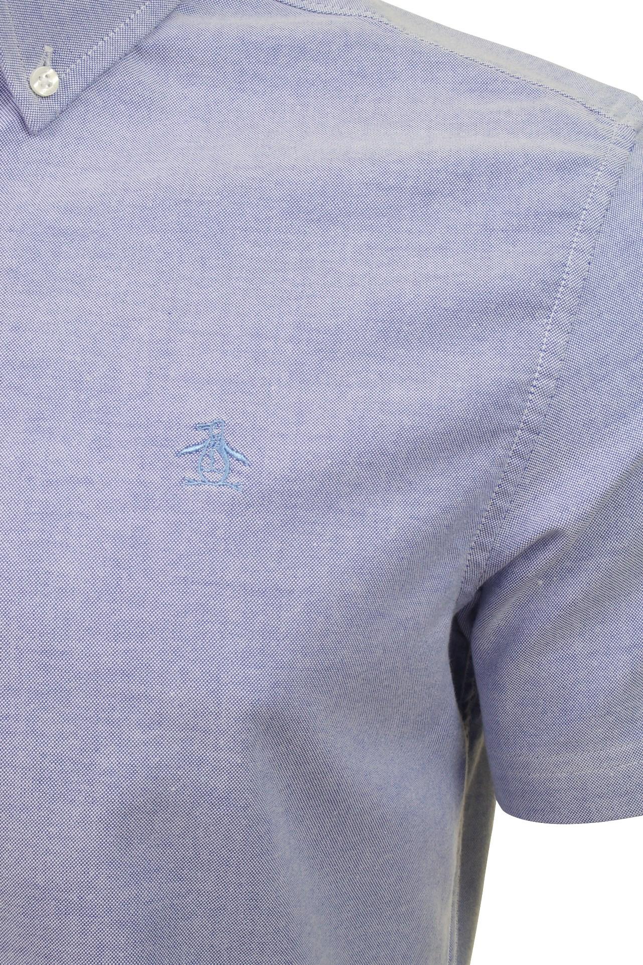 Original-Penguin-Mens-Stretch-Oxford-Shirt-Short-Sleeved thumbnail 4