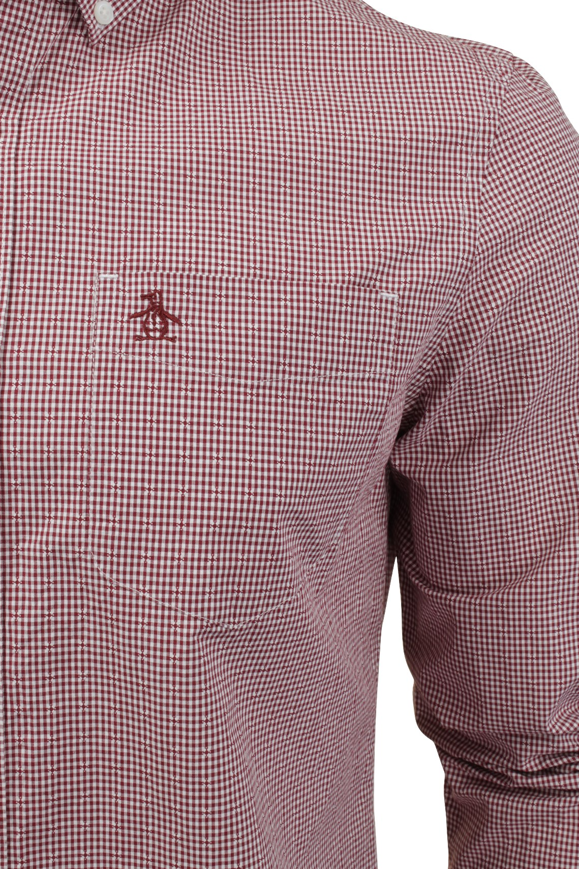 Mens-Long-Sleeved-Gingham-Shirt-by-Original-Penguin thumbnail 7