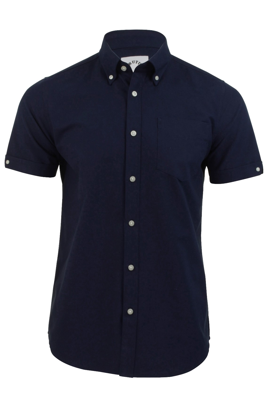 Mens Oxford Shirt by Brutus Short Sleeved Button Down ...