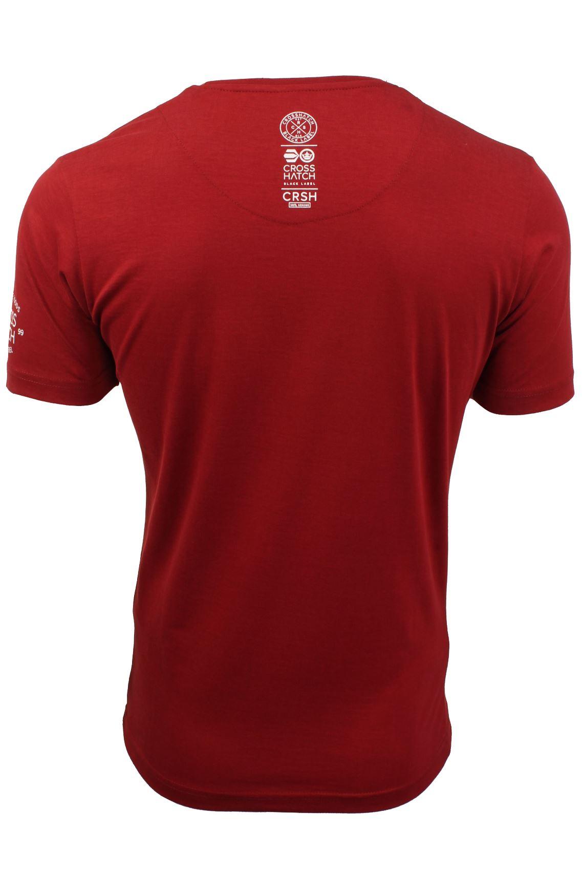 Homme T-shirt à encolure ras-du-cou par Crosshatch 'Pendelton