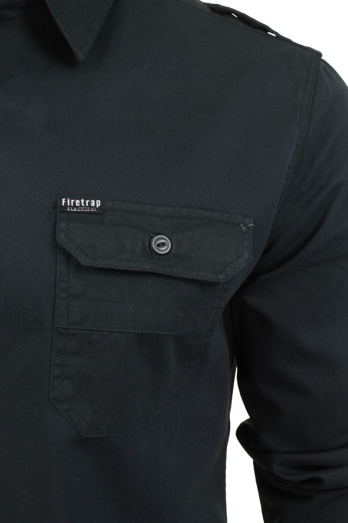 Camisa-para-hombre-por-Firetrap-039-Pittson-039-Manga-Larga miniatura 4