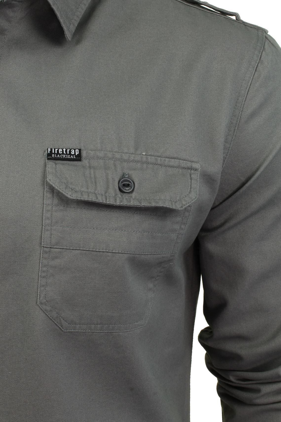 Camisa-para-hombre-por-Firetrap-039-Pittson-039-Manga-Larga miniatura 22