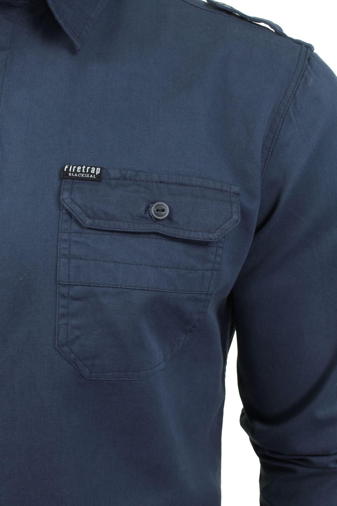 Camisa-para-hombre-por-Firetrap-039-Pittson-039-Manga-Larga miniatura 19
