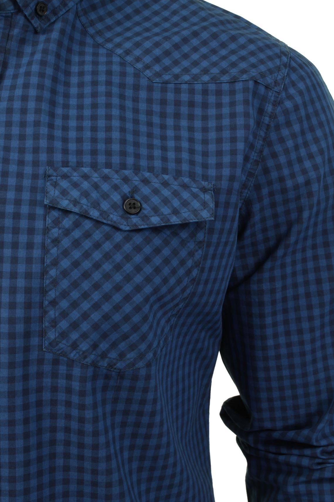 Mens-Check-Shirt-by-Smith-amp-Jones-039-Porticus-039-Long-Sleeved thumbnail 4