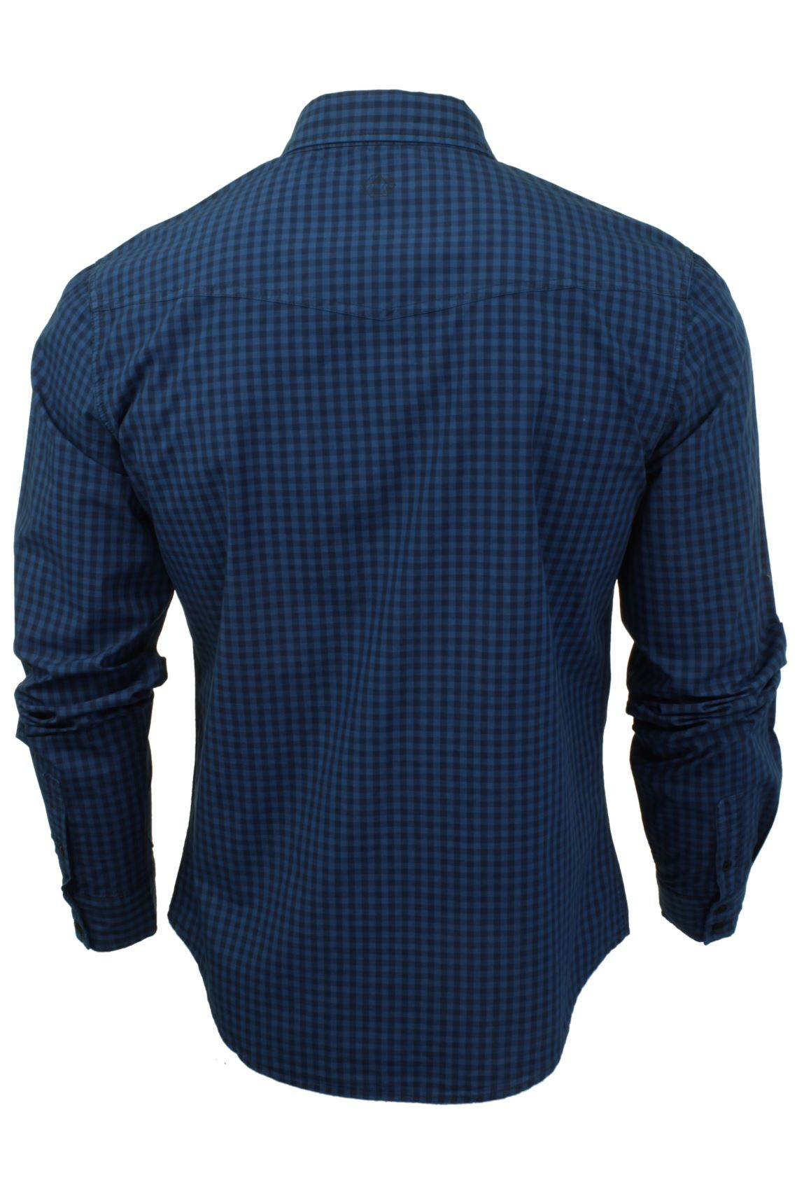 Mens-Check-Shirt-by-Smith-amp-Jones-039-Porticus-039-Long-Sleeved thumbnail 5