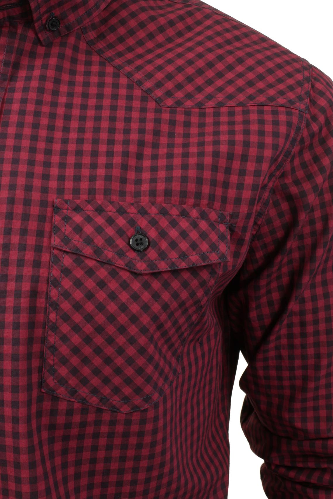 Mens-Check-Shirt-by-Smith-amp-Jones-039-Porticus-039-Long-Sleeved thumbnail 7