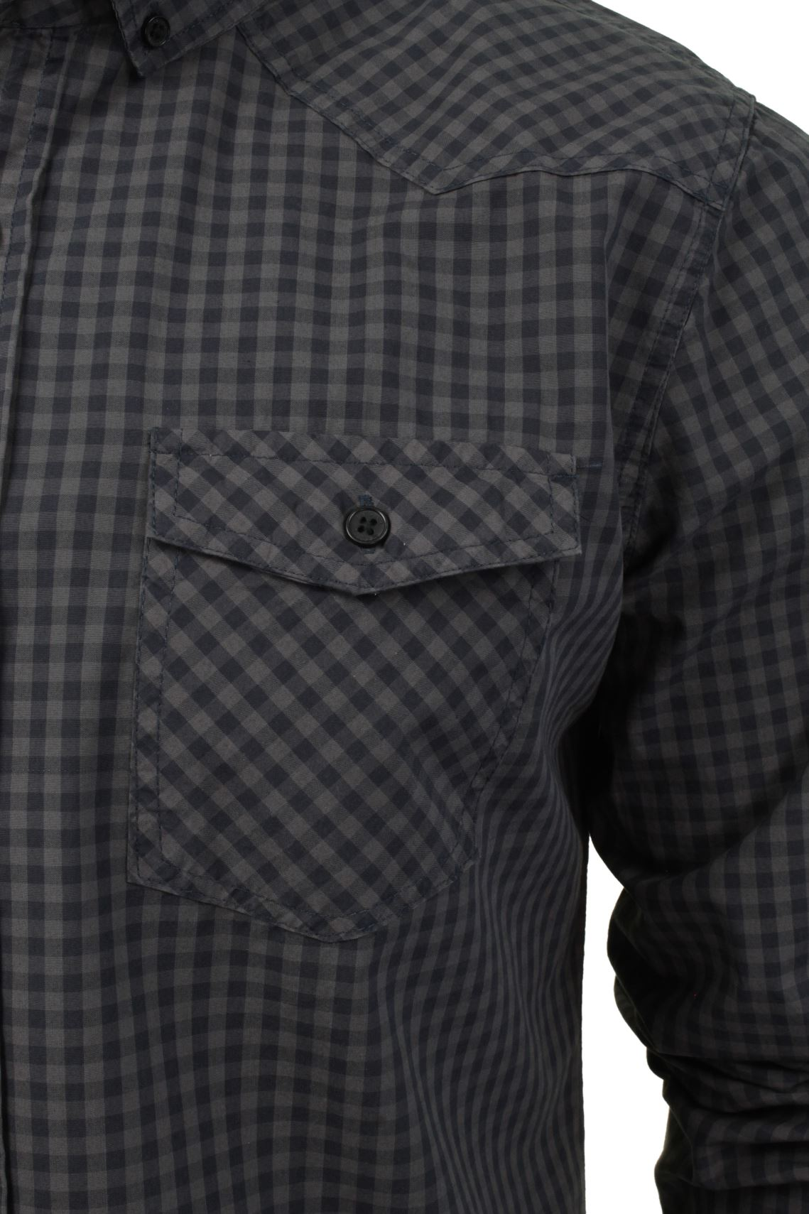 Mens-Check-Shirt-by-Smith-amp-Jones-039-Porticus-039-Long-Sleeved thumbnail 10