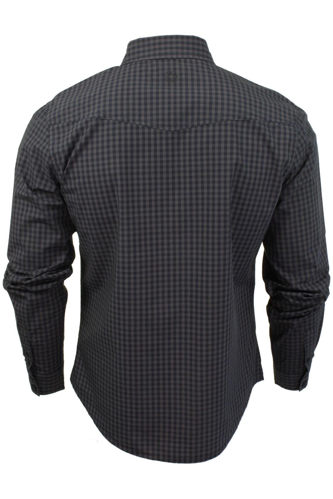 Mens-Check-Shirt-by-Smith-amp-Jones-039-Porticus-039-Long-Sleeved thumbnail 11