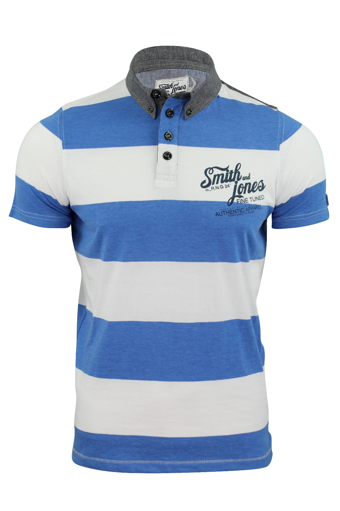 e5546bfcafd8e Camisa Tipo Polo Para Hombre by Smith   Jones Prestbury  Manga Corta ...