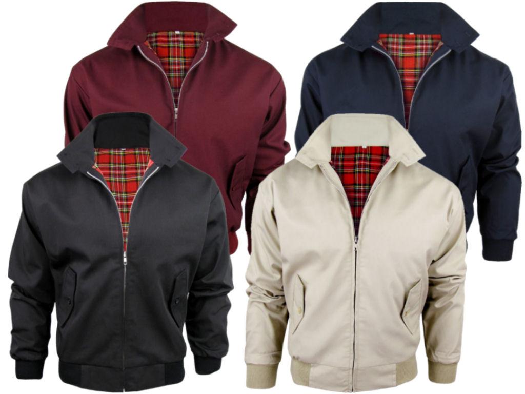 MENS RELCO CLASSIC Harrington Jacket Coat Mod Tartan Check Lining