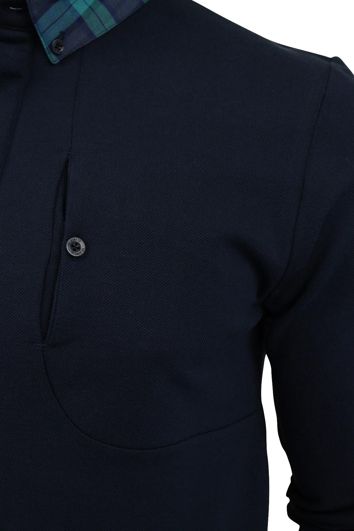 Camisa-Polo-para-hombre-por-Voi-Jeans-039-Rory-039-Manga-Larga miniatura 4