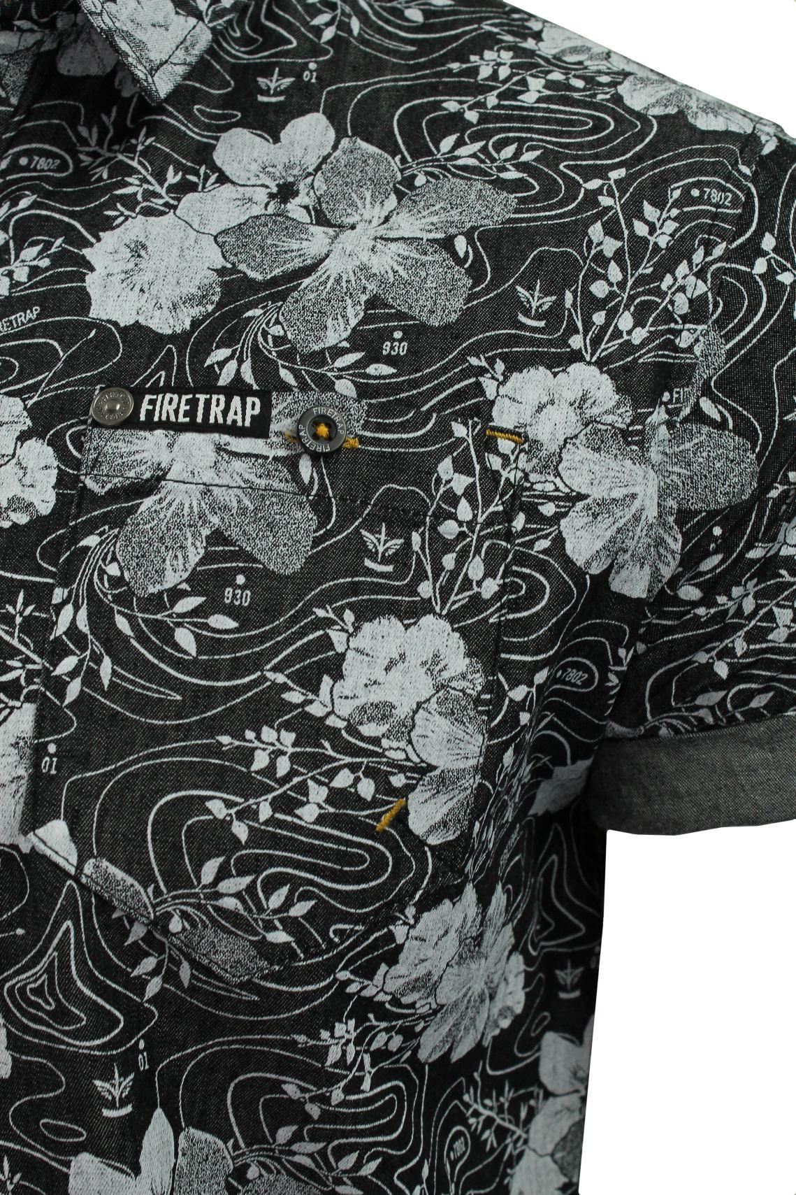 Mens-Short-Sleeved-Shirt-by-Firetrap thumbnail 4