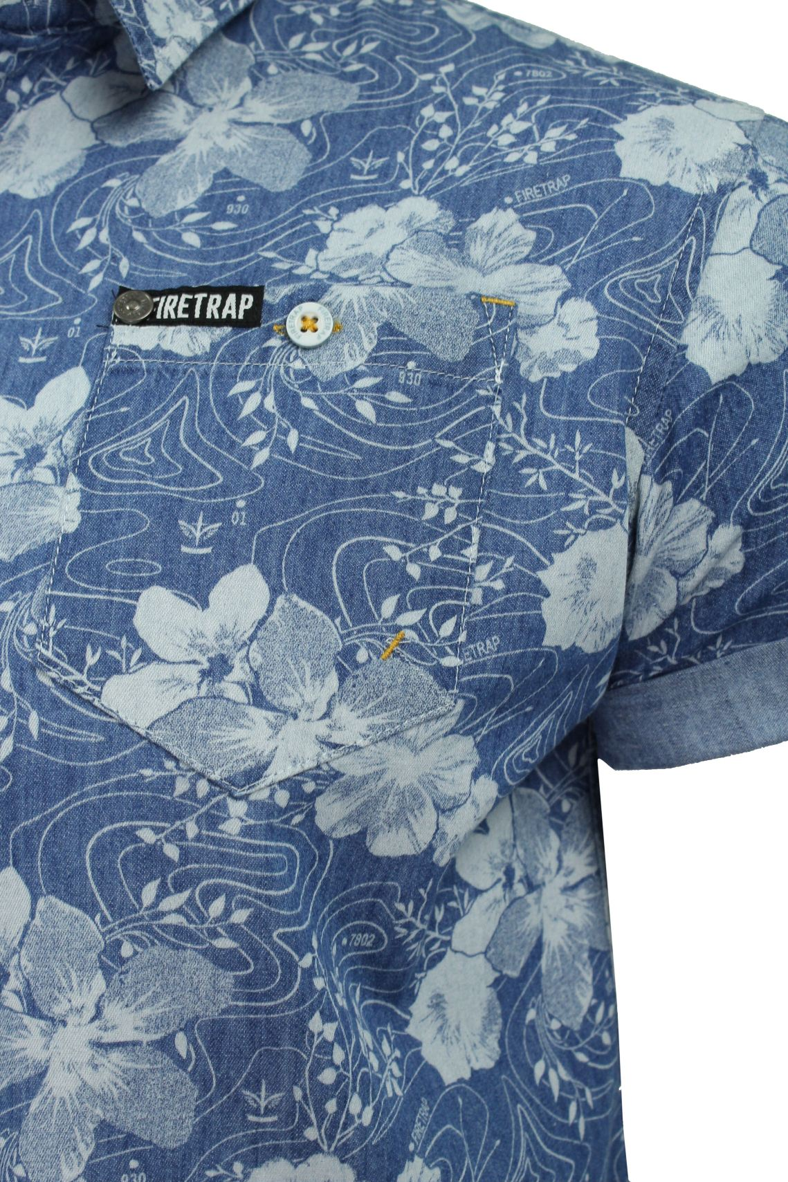 Mens-Short-Sleeved-Shirt-by-Firetrap thumbnail 19