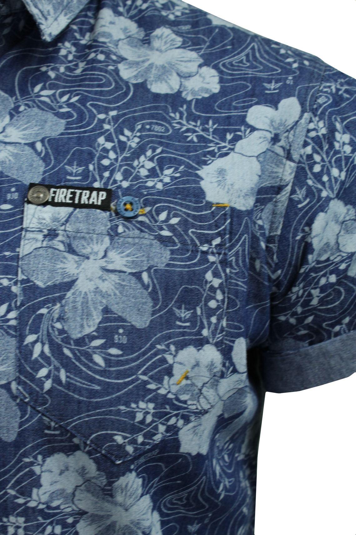 Mens-Short-Sleeved-Shirt-by-Firetrap thumbnail 31