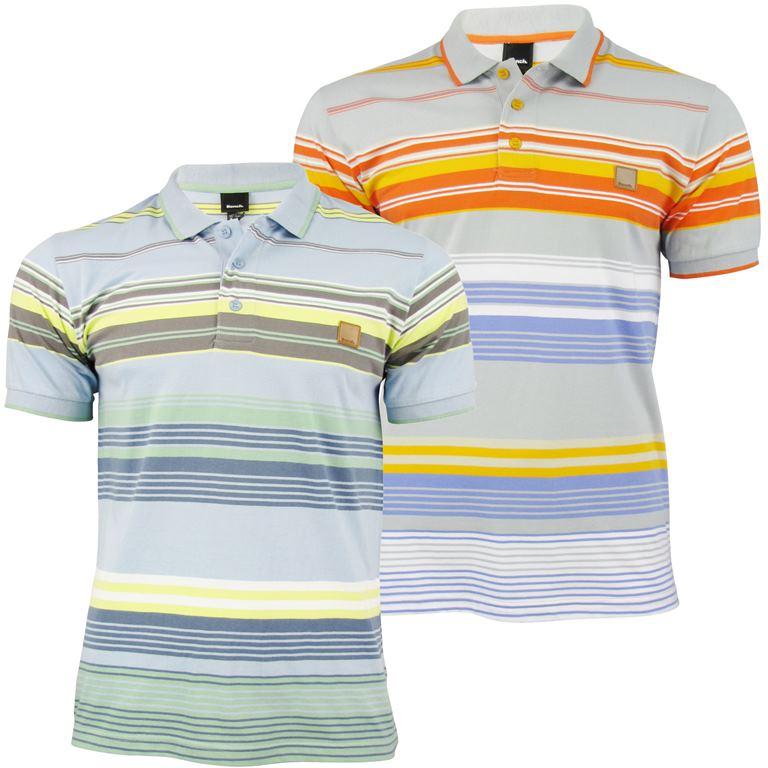 De Camiseta Rayas Teñir Corta Hombre Polo 'shanker' Detalles Hilo Manga Bench mN80wvn