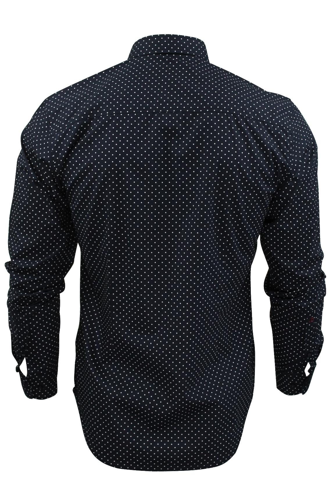 Mens-Polka-Dot-Shirt-by-Merc-London-039-Siegel-039-Long-Sleeved thumbnail 5