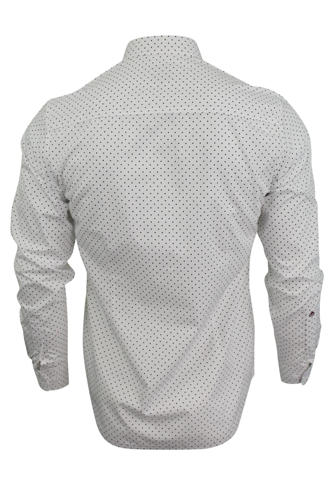 Mens-Polka-Dot-Shirt-by-Merc-London-039-Siegel-039-Long-Sleeved thumbnail 8