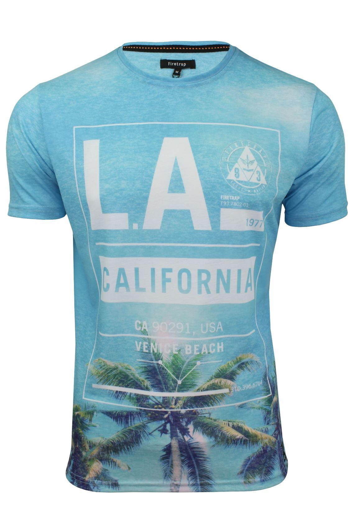 Firetrap-Mens-T-Shirt-039-Sunny-Tee-039-USA-City-Print thumbnail 3