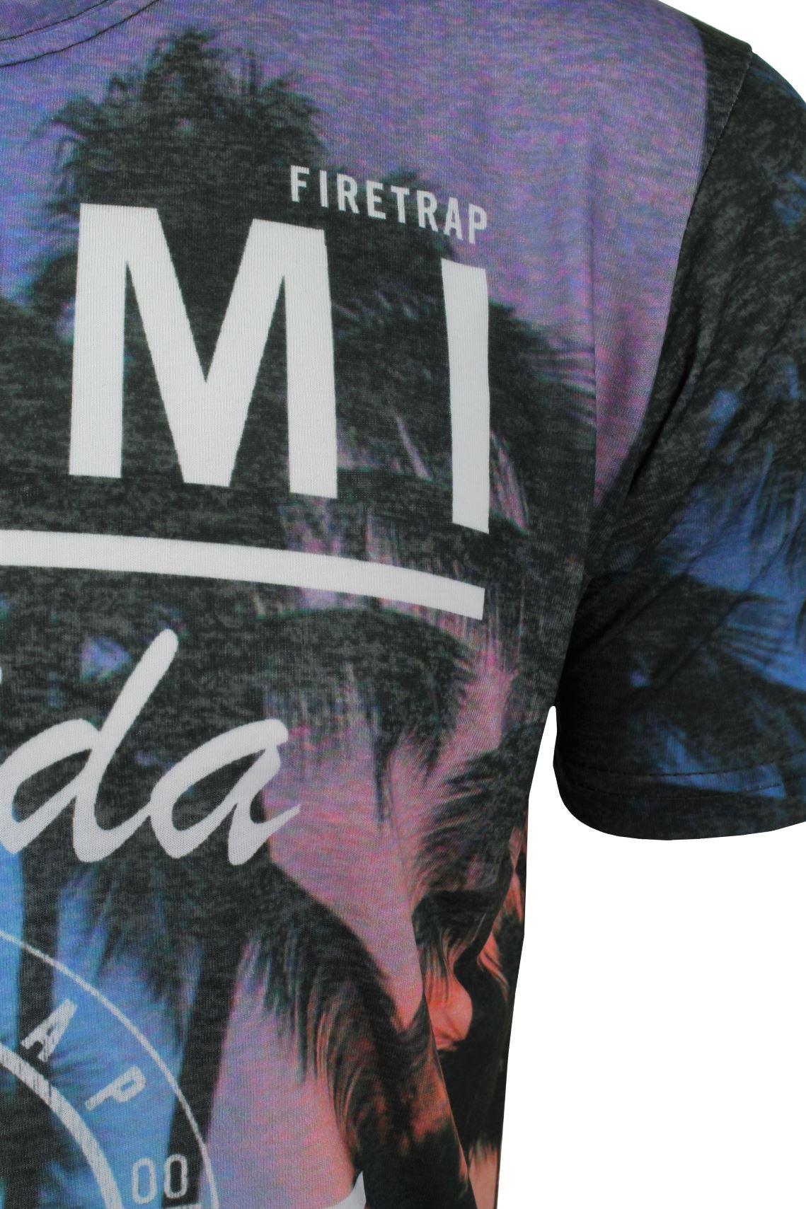 Firetrap-Mens-T-Shirt-039-Sunny-Tee-039-USA-City-Print thumbnail 7