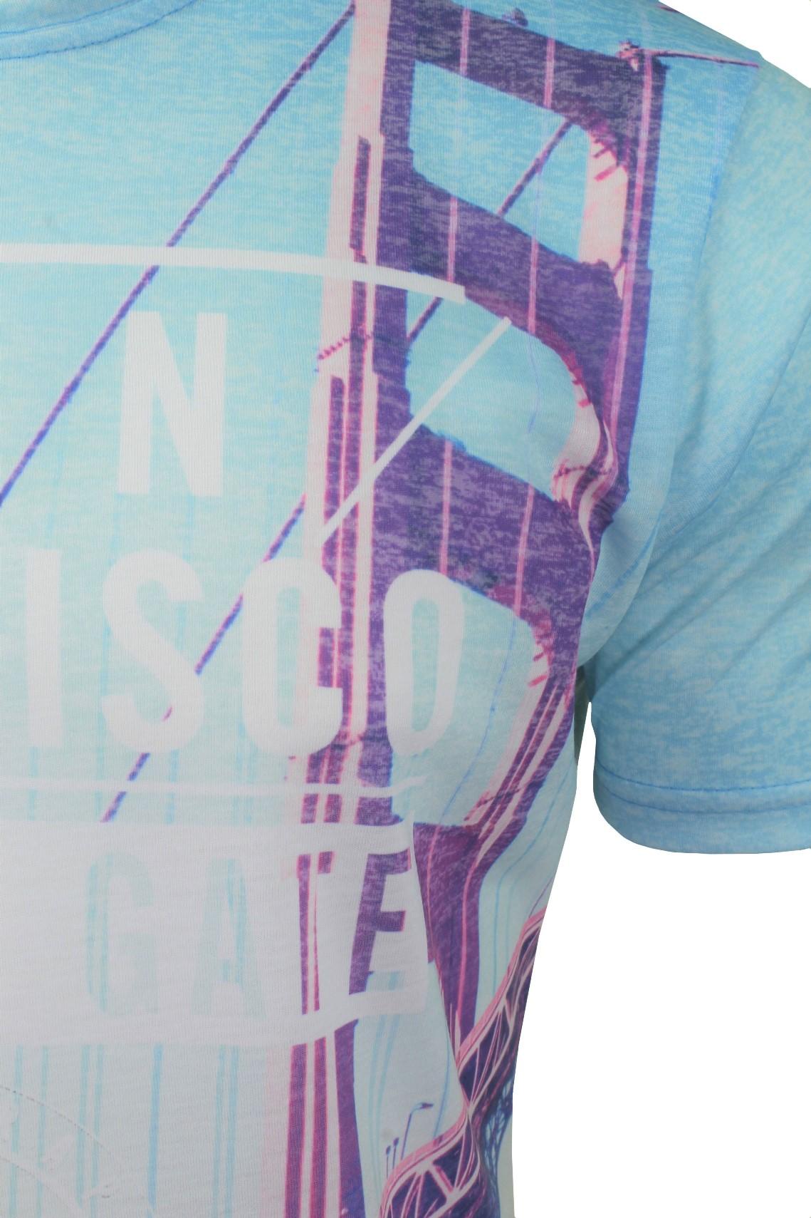 Firetrap-Mens-T-Shirt-039-Sunny-Tee-039-USA-City-Print thumbnail 10