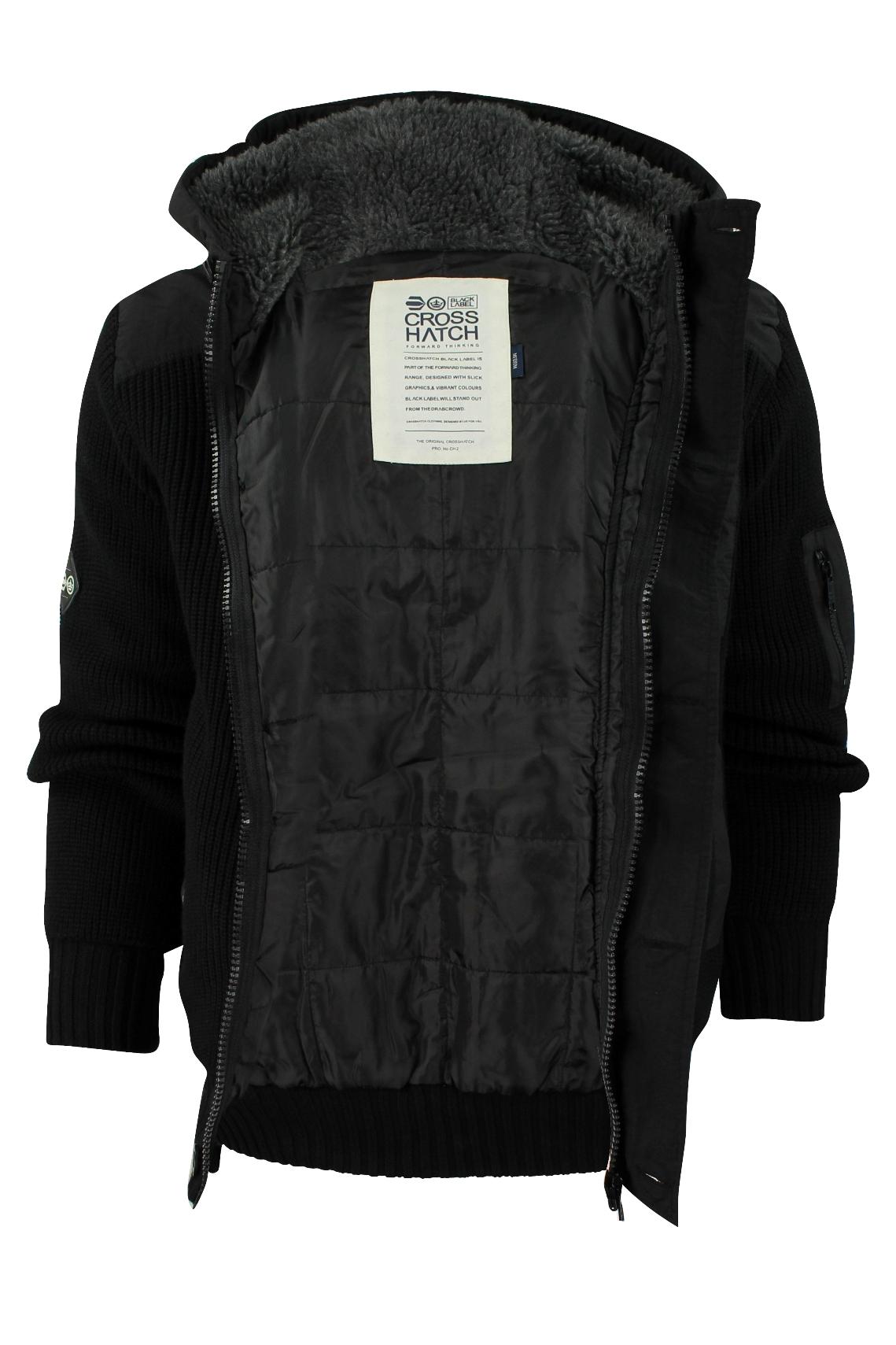 2e1d27841a3 Mens Rib Zip Cardigan Jumper Crosshatch Tarlet Hoodie Fur Lined .