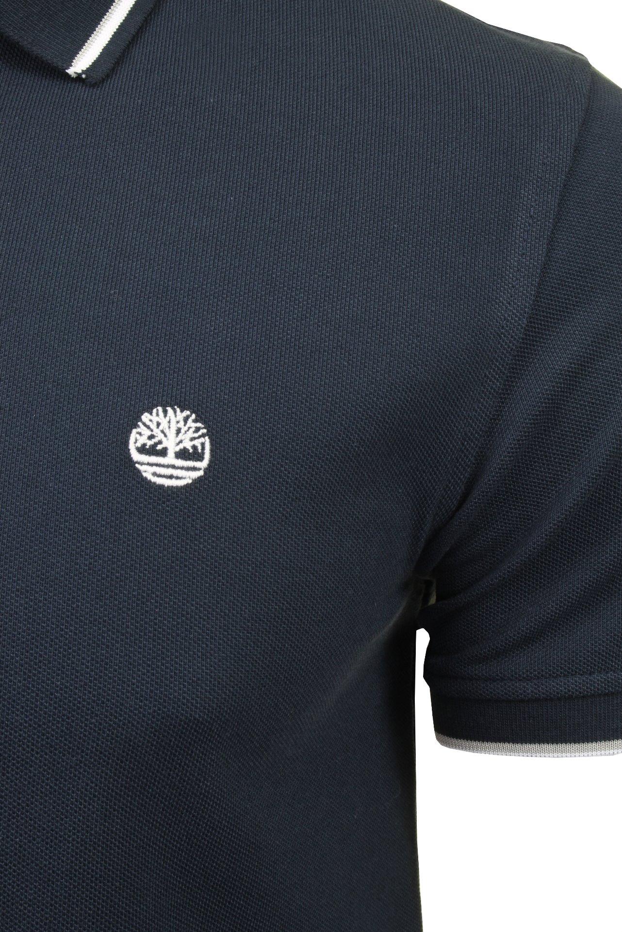Timberland-Para-Hombres-Polo-Camiseta-039-Polo-Pique-con-punta-de-rio-Millers-Manga-corta-039 miniatura 4