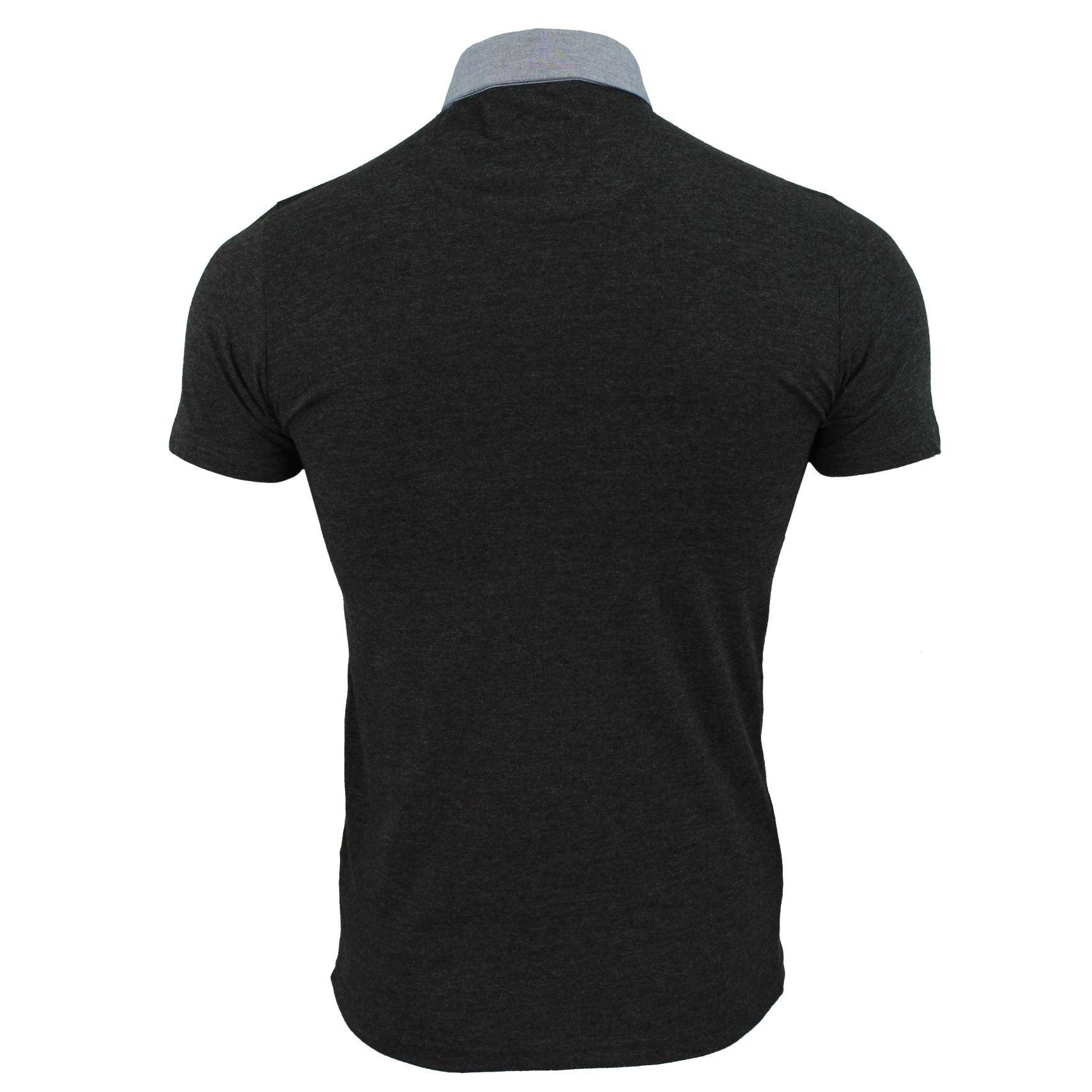 Mens-Polo-T-Shirt-Chimera-Brave-Soul-Denim-Chambray-Collar-Short-Sleeved-Cotton thumbnail 12