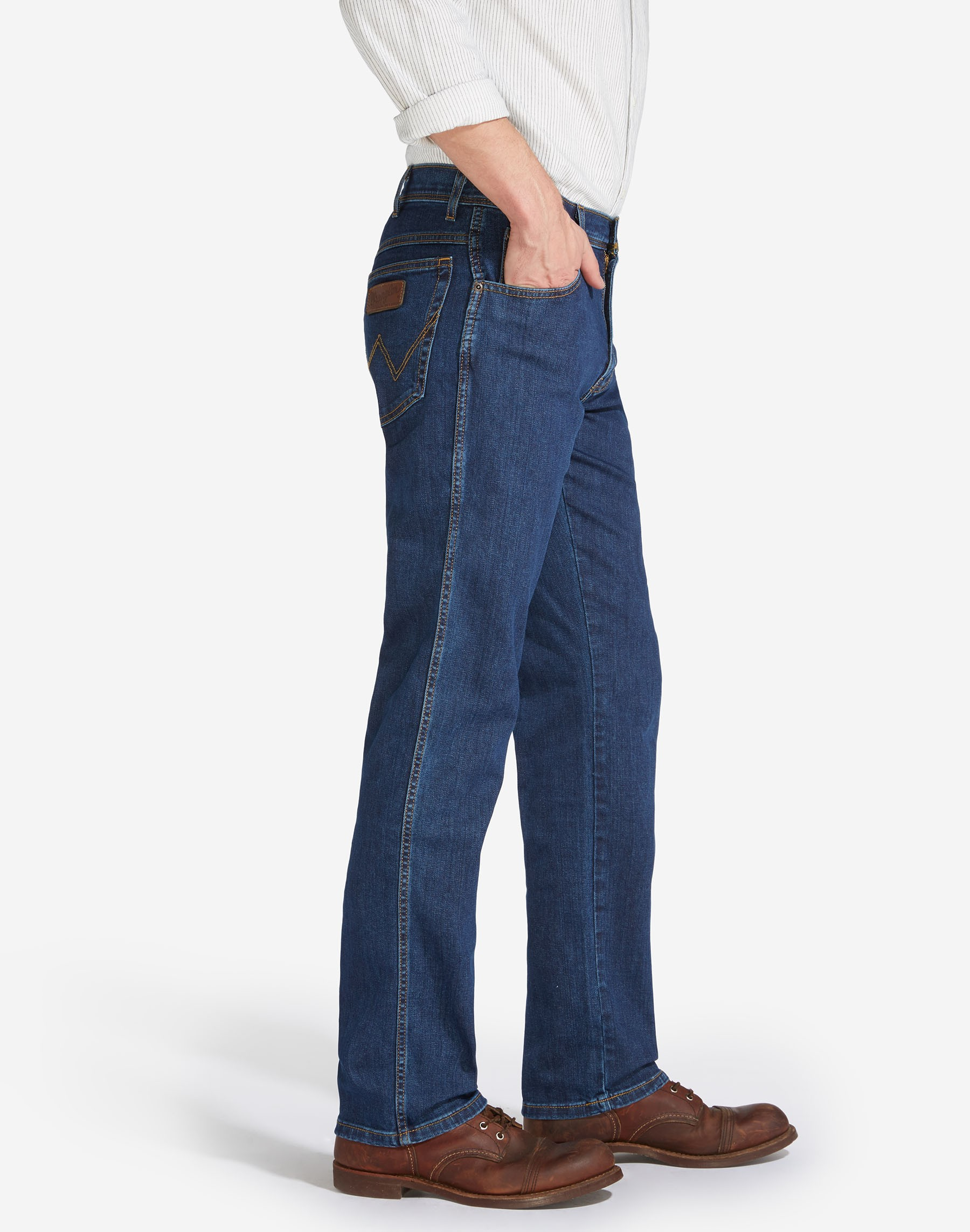 Mens-Wrangler-039-Texas-039-Jeans-Denim-Stretch-Original-Straight-Fit thumbnail 10
