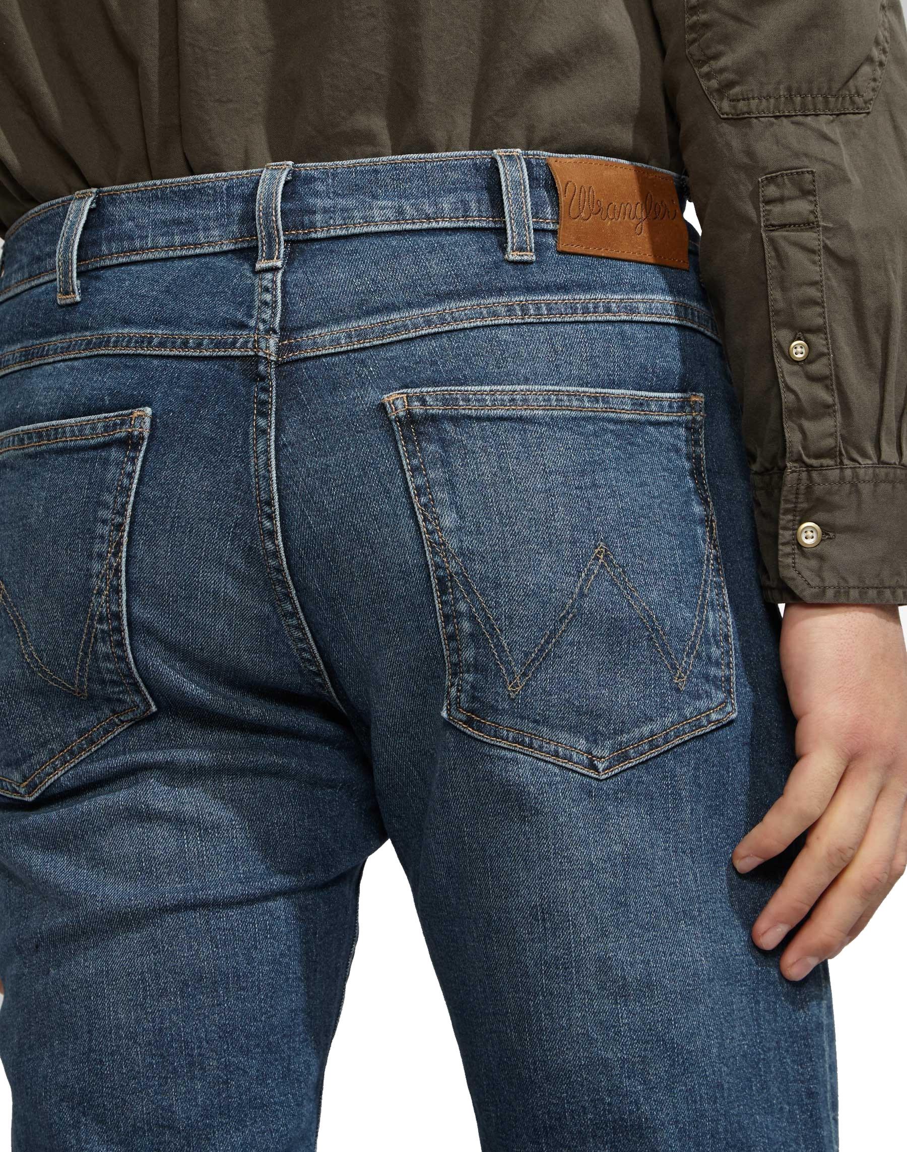 Da-Uomo-Wrangler-039-Arizona-039-jeans-Stretch-Denim-Classic-Fit-Dritto miniatura 5
