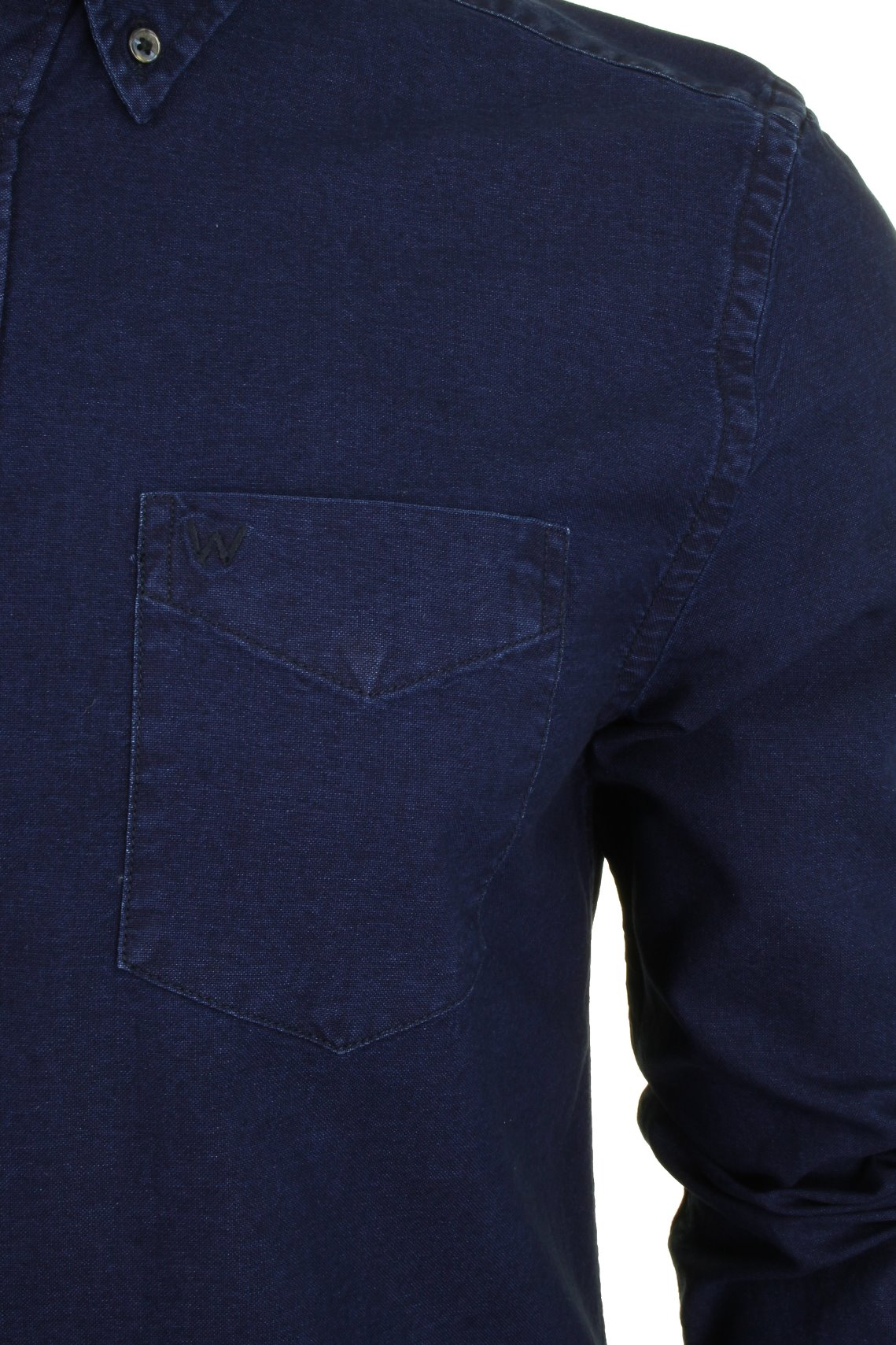 Mens-Wrangler-Button-Down-Shirt-Long-Sleeved thumbnail 3