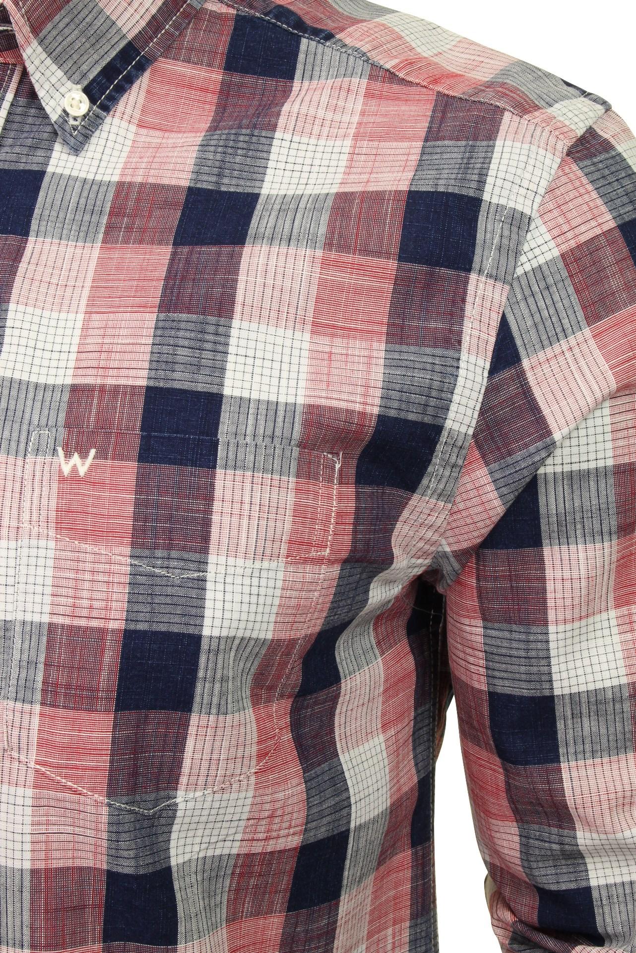 Wrangler Herren Freizeithemden Kariert Button-Down-Kragen Langarm Langarm Langarm | Schön und charmant  509f41