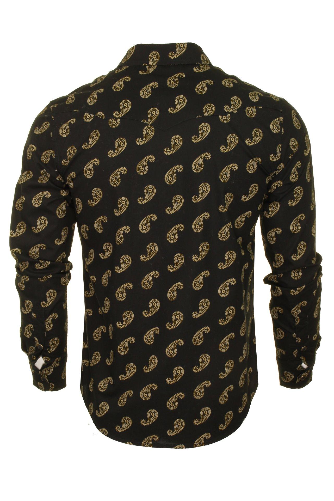 8164a98f Mens-Wrangler-Paisley-Western-Shirt thumbnail 4