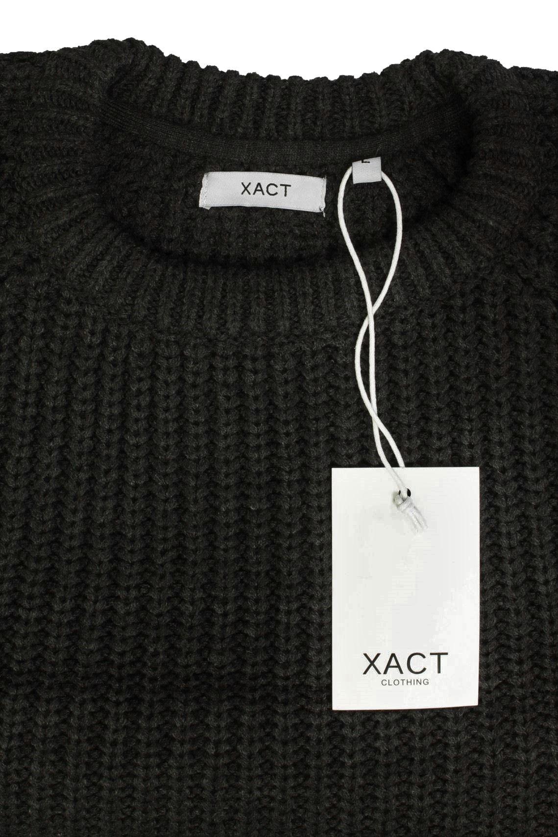 Mens-Jumper-fashion-Chunky-Fisherman-Knit-With-Elbow-Patches-by-Xact thumbnail 10