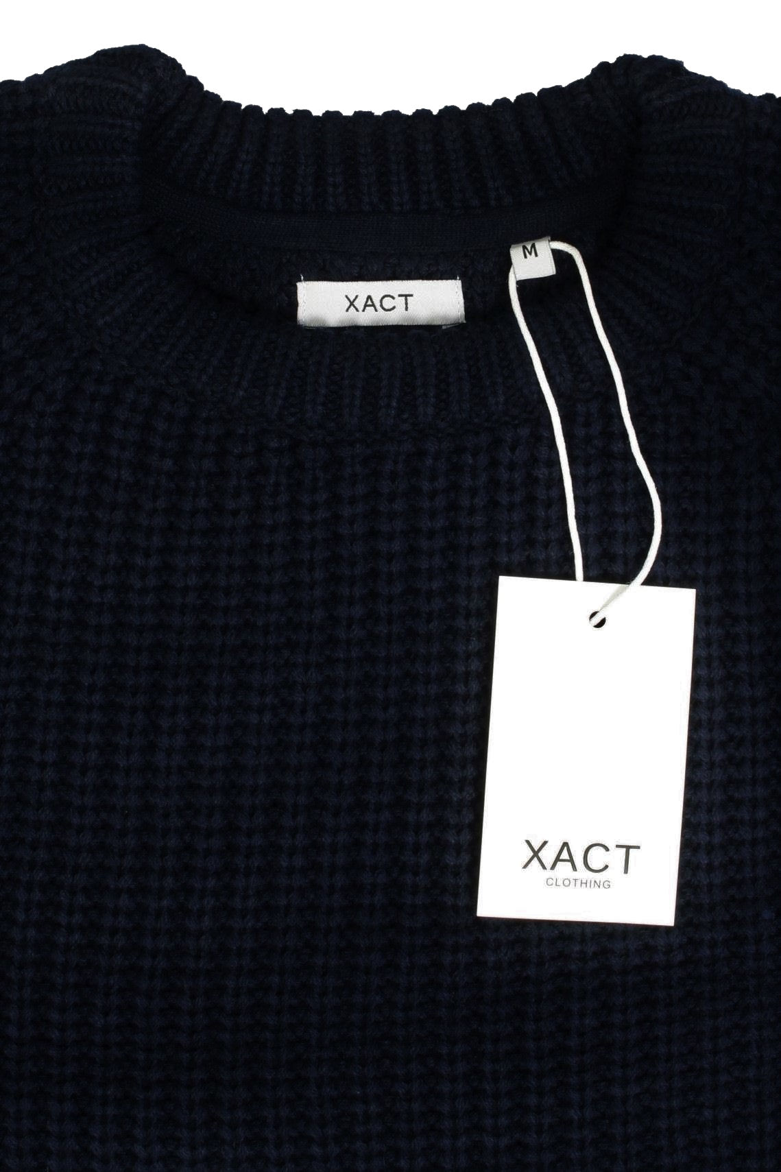 Mens-Jumper-fashion-Chunky-Fisherman-Knit-With-Elbow-Patches-by-Xact thumbnail 14