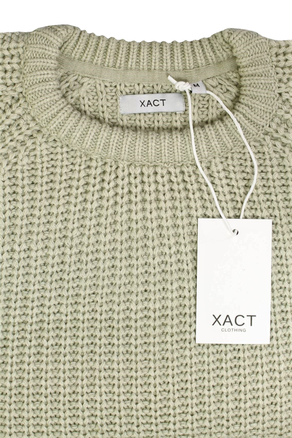 Mens-Jumper-fashion-Chunky-Fisherman-Knit-With-Elbow-Patches-by-Xact thumbnail 6
