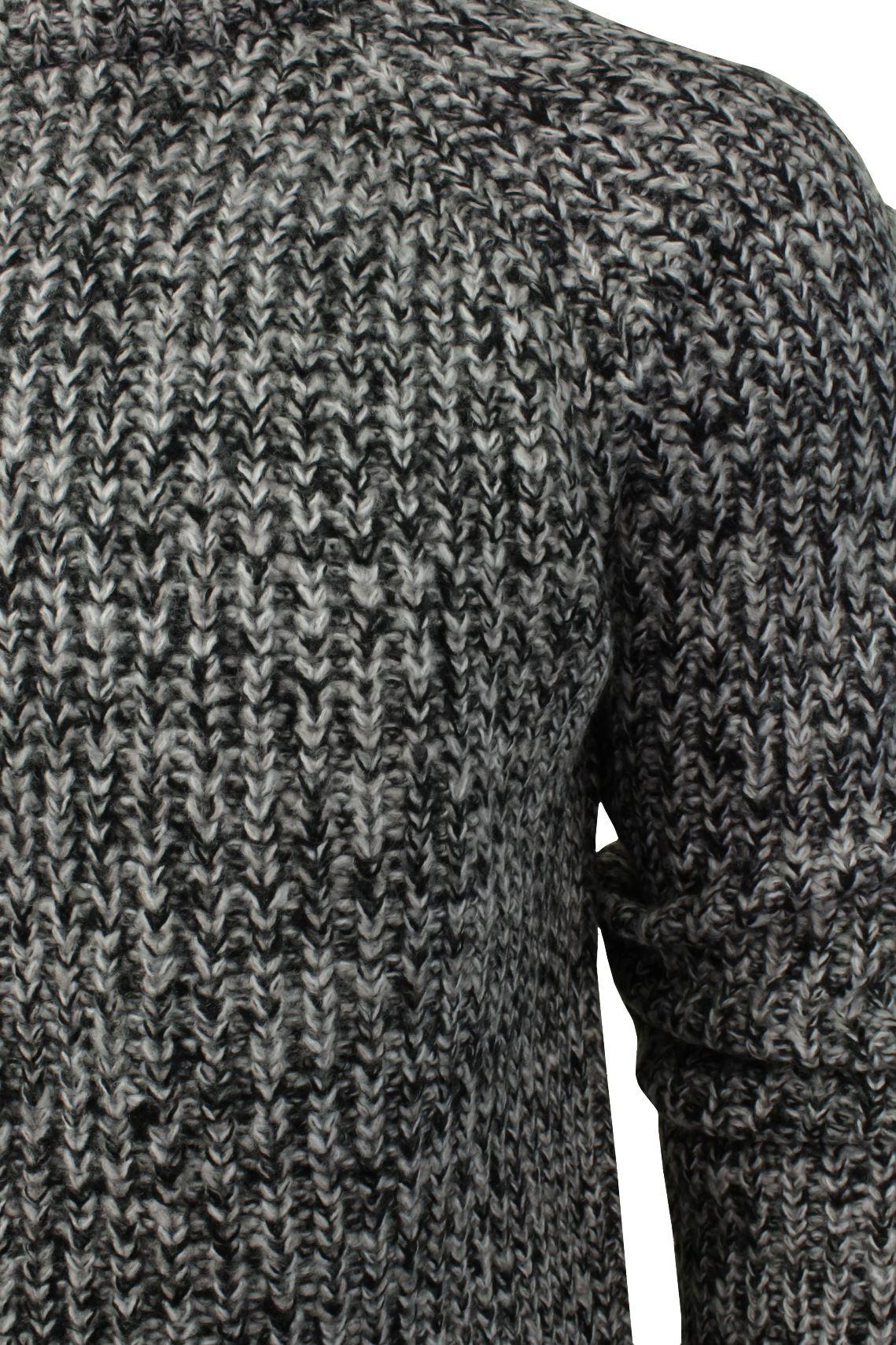 Xact-Mens-Jumper-Fashion-Chunky-Fisherman-Fleck-Knit-Long-Sleeve thumbnail 4