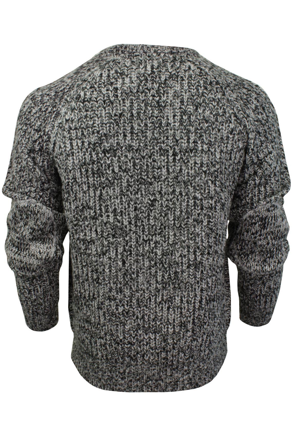 Xact-Mens-Jumper-Fashion-Chunky-Fisherman-Fleck-Knit-Long-Sleeve thumbnail 5
