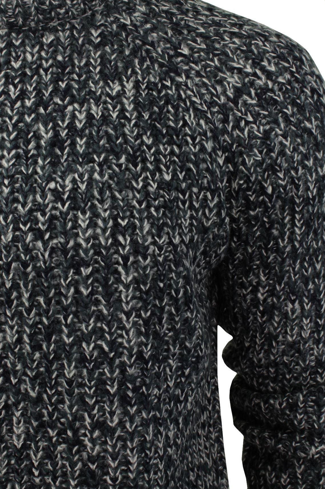Xact-Mens-Jumper-Fashion-Chunky-Fisherman-Fleck-Knit-Long-Sleeve thumbnail 8