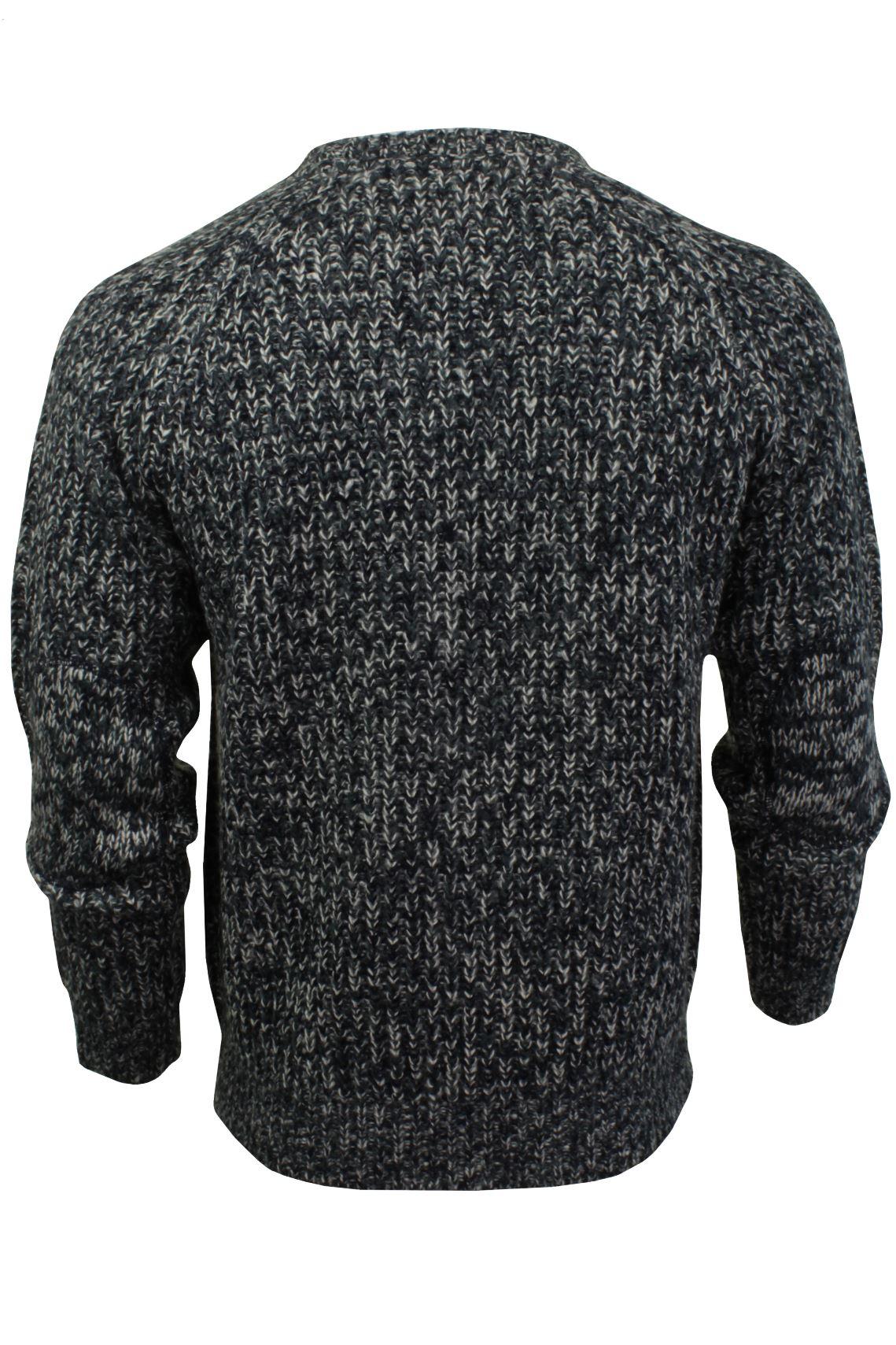 Xact-Mens-Jumper-Fashion-Chunky-Fisherman-Fleck-Knit-Long-Sleeve thumbnail 9