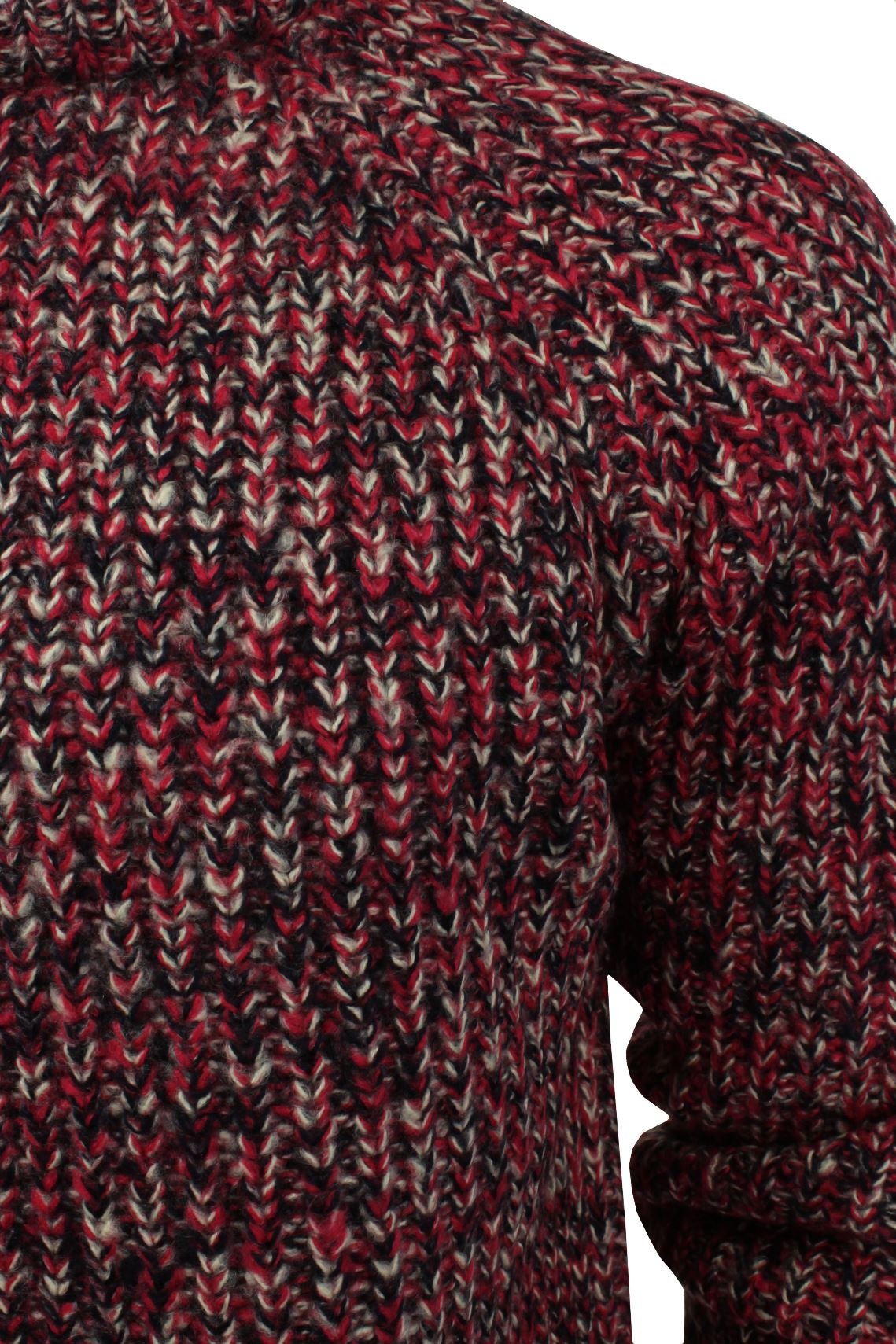 Xact-Mens-Jumper-Fashion-Chunky-Fisherman-Fleck-Knit-Long-Sleeve thumbnail 12