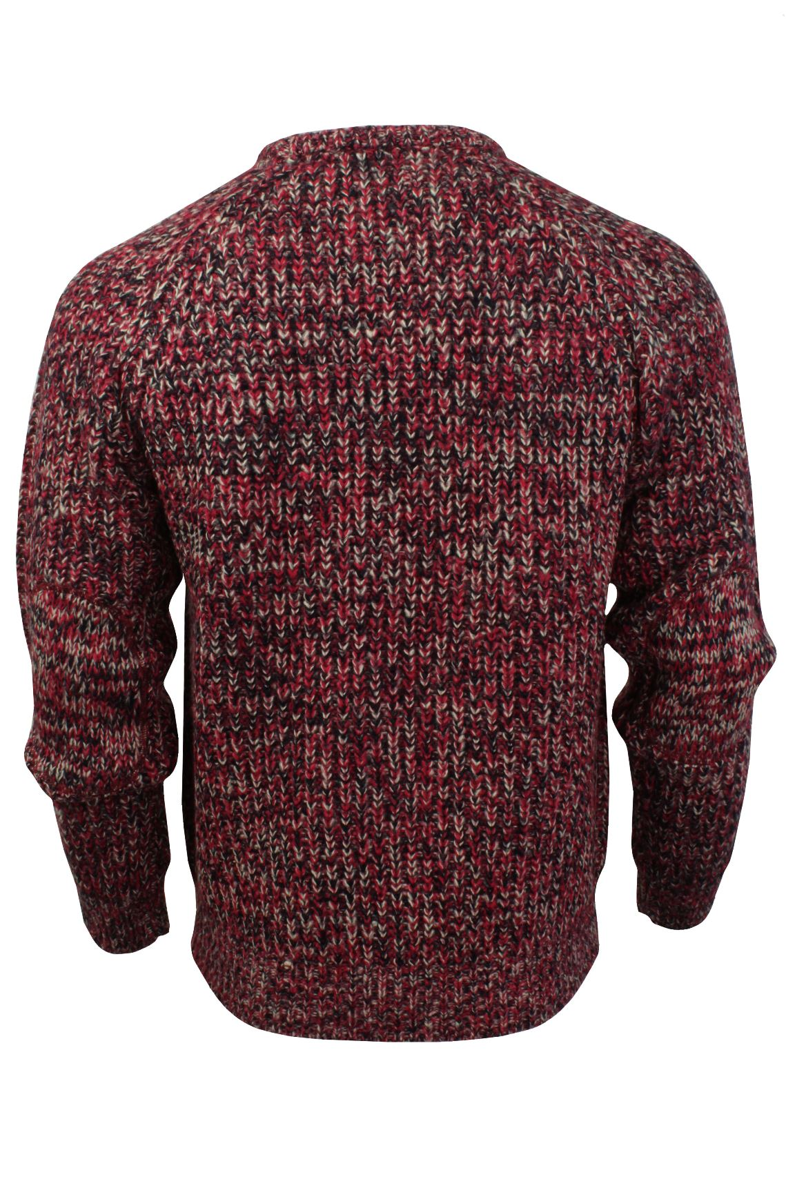 Xact-Mens-Jumper-Fashion-Chunky-Fisherman-Fleck-Knit-Long-Sleeve thumbnail 13