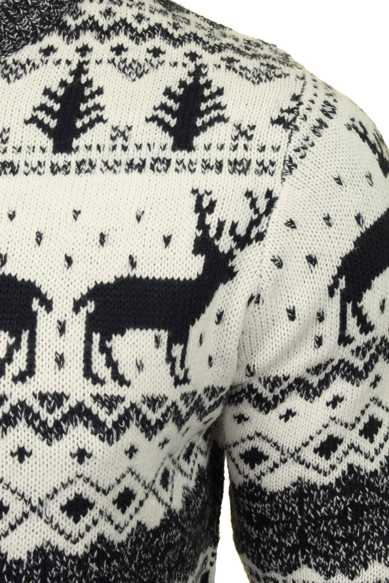 Mens-Xact-Christmas-Xmas-Jumper-039-Reindeer-Fairisle-Crew-039 thumbnail 4