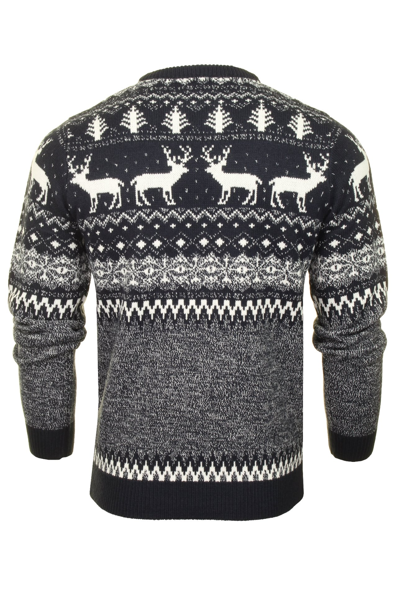 Mens-Xact-Christmas-Xmas-Jumper-039-Reindeer-Fairisle-Crew-039 thumbnail 8