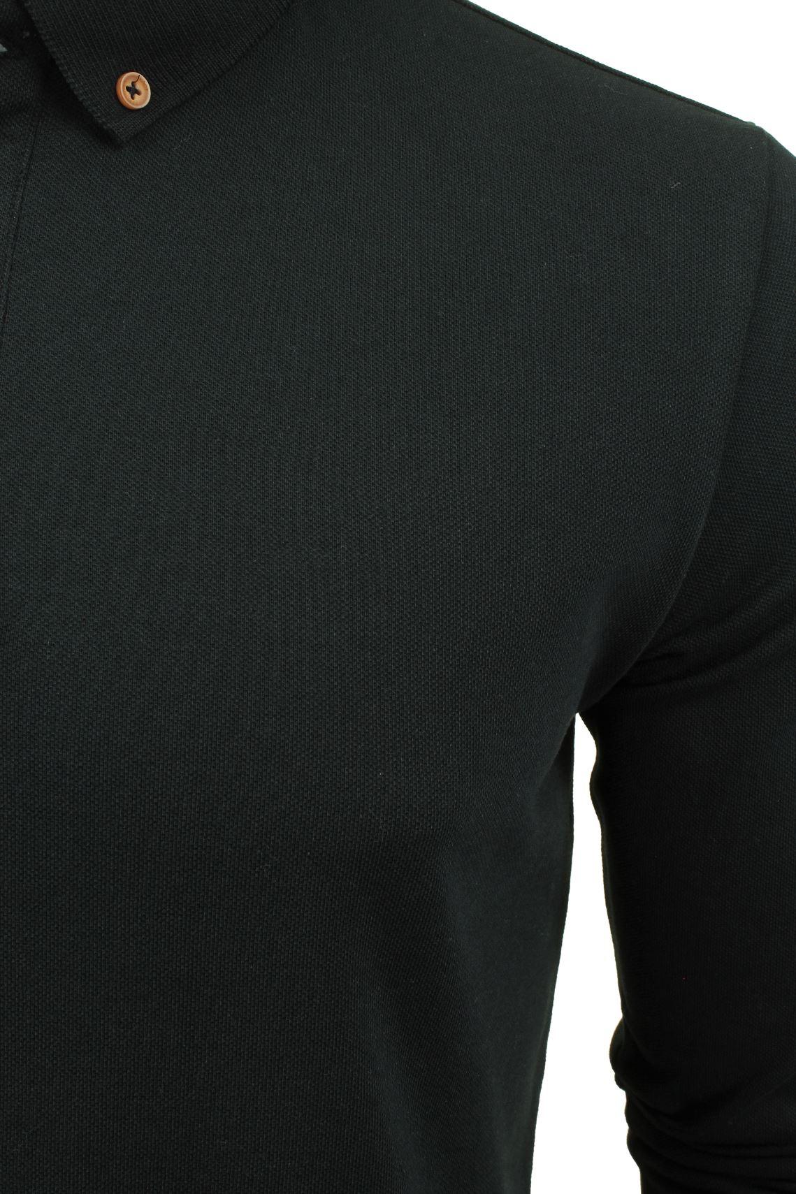 Camiseta-Polo-Para-Hombre-Por-Xact-pique-de-manga-larga miniatura 4